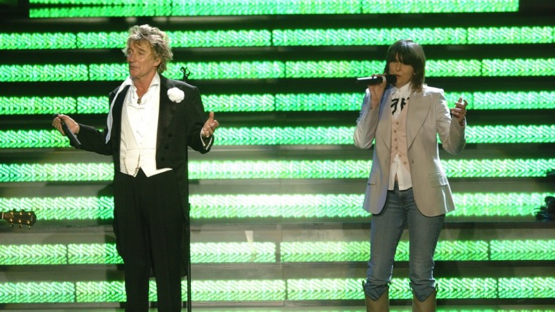 Rod Stewart & Chrissie Hynde